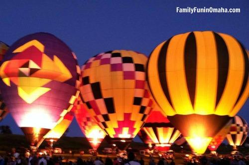 A close up of balloons at Ditmars Orchard Hot Air Balloon Festival