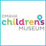 A colorful logo of the Omaha Children\'s Museum.
