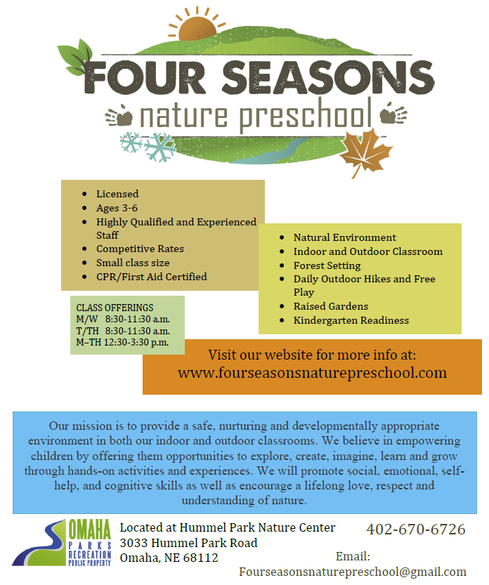 Four Seasons Nature Preschool-Flyer 2016