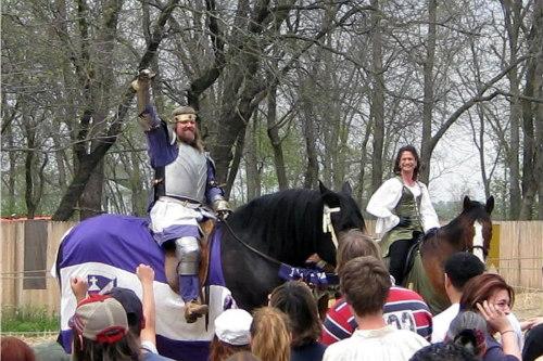 Renaissance Festival of Nebraska -knightriding