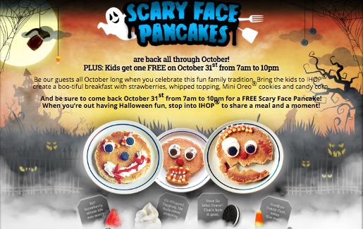 Scary Face Pancake at IHOP