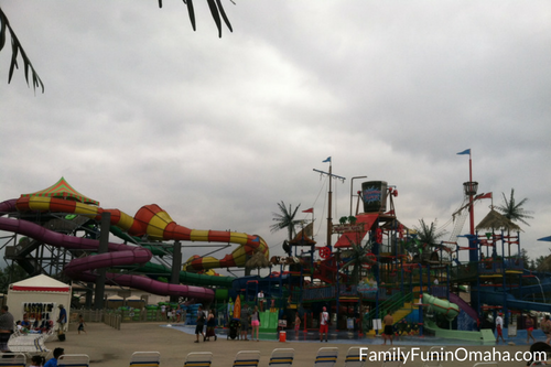 The waterpark and bucket at Adventureland