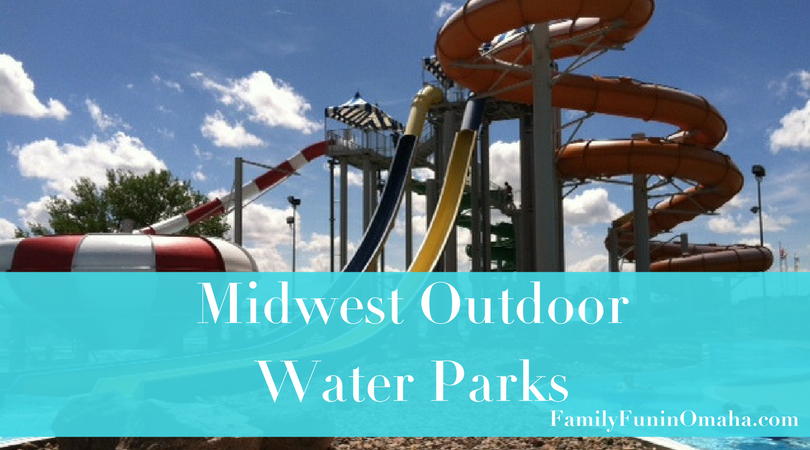 A waterslide with overlay text that reads Midwest Outdoor Water Parks.