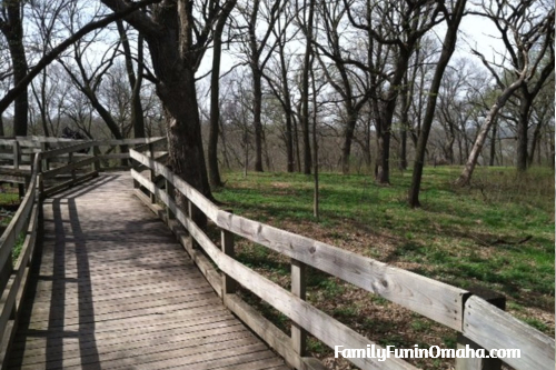 A wooden path at Fontenelle Forest